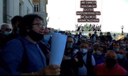 Mobilitazione degli Ambulanti della Puglia, 92º Tg su suolo pubblico.