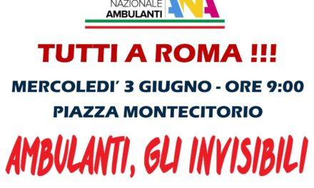 93º Tg su suolo pubblico ambulanti tutti a Roma!