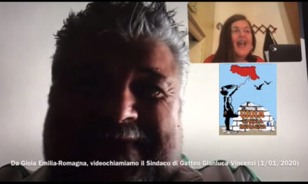 In videochiamata abbiamo il sindaco di Gatteo: Gianluca Vincenzi