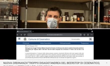 """NUOVA ORDINANZA """"TROPPO DISAGIO""""ANDREA DEL BEER STOP DI CESENATICO, DA OGGI CHIUDO LA SERRANDA DEL MIO LOCALE"""