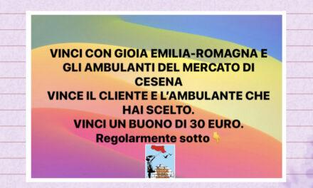 VINCI CON GIOIA EMILIA-ROMAGNA E GLI AMBULANTI DEL MERCATO DI CESENA.