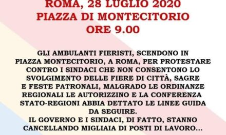 Ancora ombra sugli ambulanti Italiani, pronti a scendere in Piazza