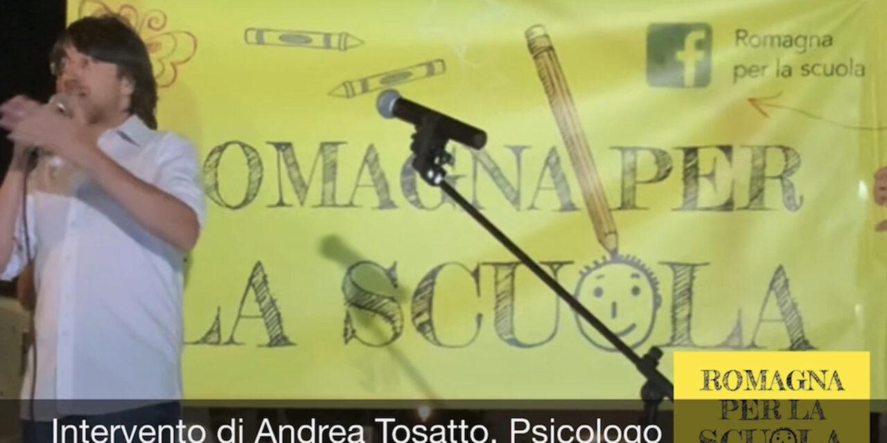 Oggi ascoltiamo l'intervento di Andrea Tosatto Psicologo