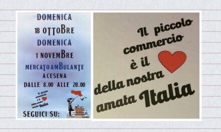 Domenica 8 ottobre e domenica 1 novembre a Cesena Mercato ambulante da mattina a sera