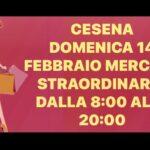 CESENA: MERCATO STRAORDINARIO DOMENICA 14 FEBBRAIO TUTTO IL GIORNO